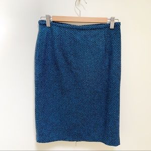 Calvin Klein blue patterned pencil skirt sz 2
